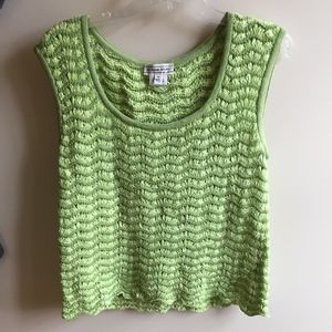 St. John Sport Green Crocheted Tank Top